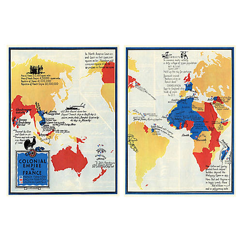 French Empire Maps, Pair