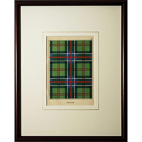 Sinclair Clan Tartan Print
