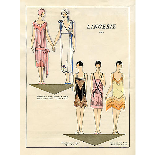 Art Deco Lingerie Fashions, 1926
