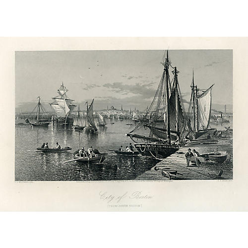 1870s View of Boston Harbor