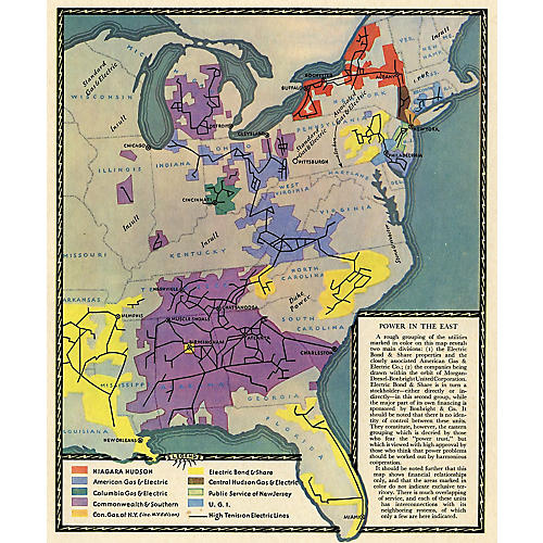 Power Grids of the South & East, 1931