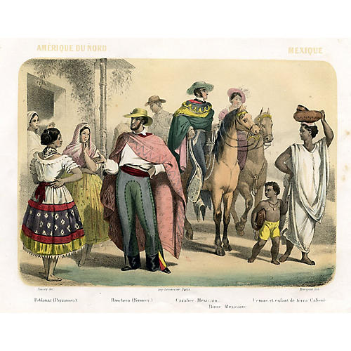 Mexican Fashion Print, 1858