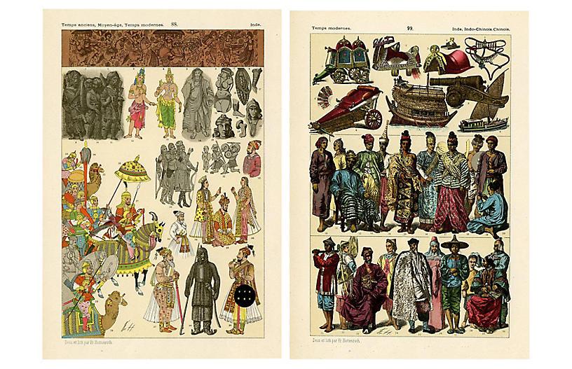 Costumes of China & India, Pair