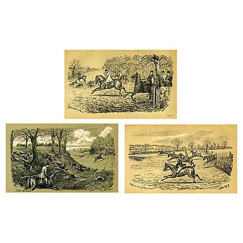 British Equestrian Prints, S/3