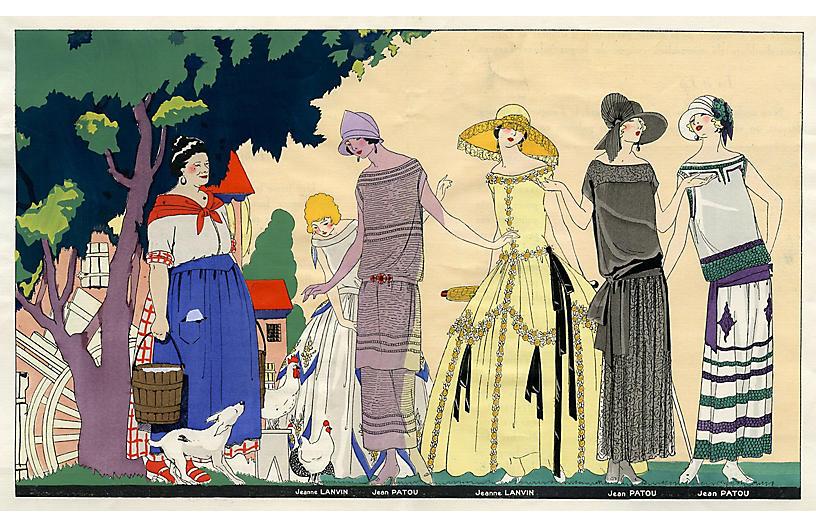Art Deco Fashions by Lanvin & Patou
