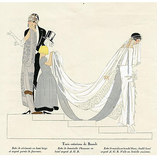 Art Deco Wedding Dresses, 1923