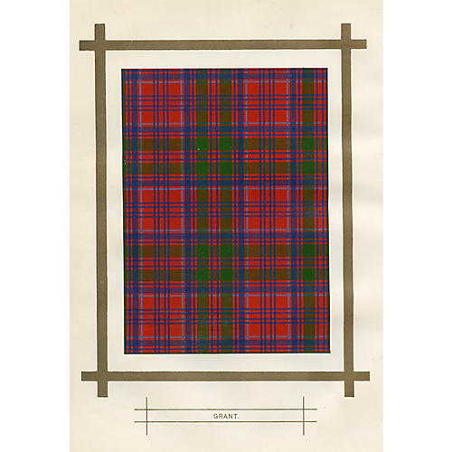 Scottish Tartan Print, Grant Clan