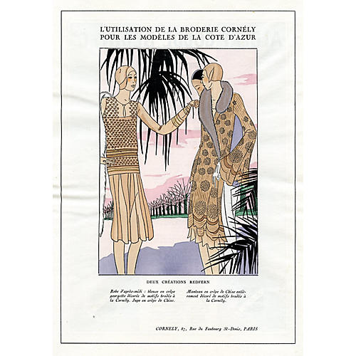 Art Deco Fashions for the French Riviera