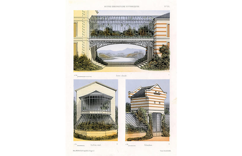 French Greenhouse Designs, C. 1860