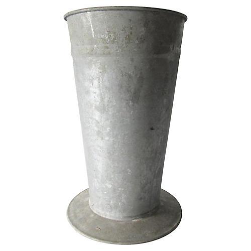 French Zinc Florist Vase