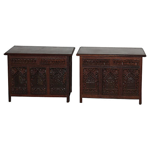 Indian Side Tables, Pair