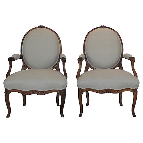 French Chairs, S/2