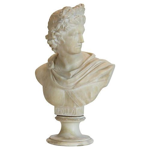 Apollo Alabaster Bust