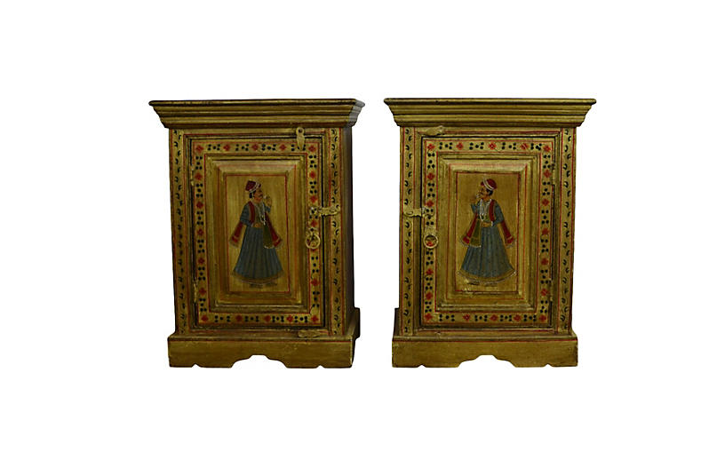 Pair of Painted Cabinet