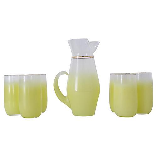 Yellow Blendo Drink Set, 7-Pcs