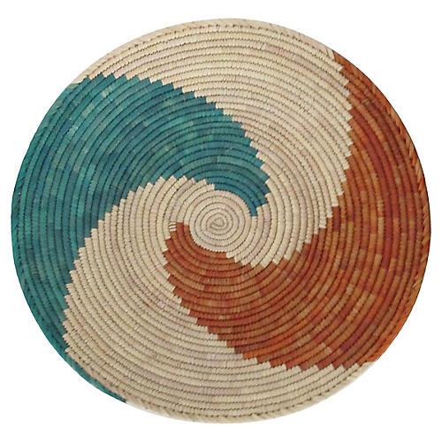 Rust & Turquoise Swirl Basket