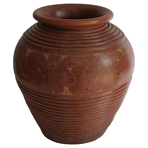 Carved Terracotta Vase