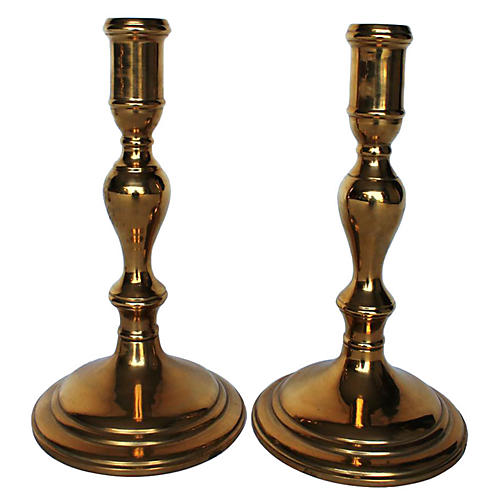 Maitland Smith Candleholders, Pair