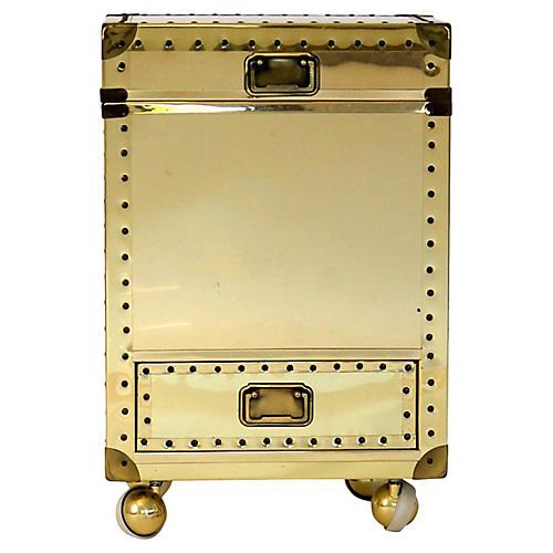 Brass-Clad Storage Chest