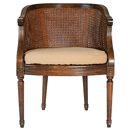 Louis XVI-Style Double-Caned Chair