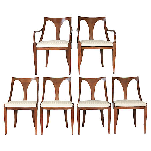 Kindel Spoon-Back Dining Chairs, S/6