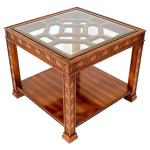 Square Fretwork Side Table