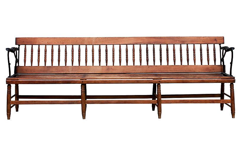 Early American Deacon's Bench