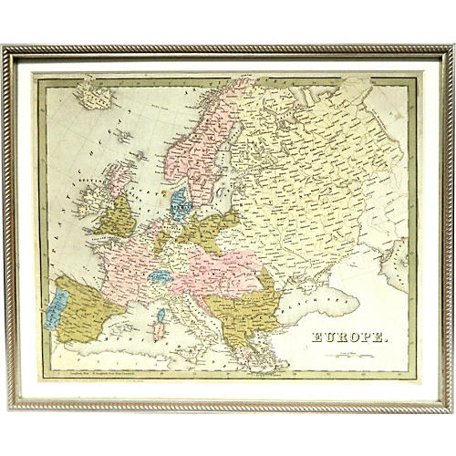 1841 Map of Europe