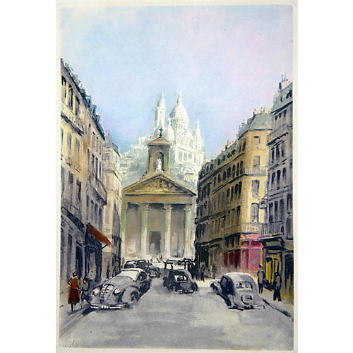 Morning on the Rue LaFitte, Paris