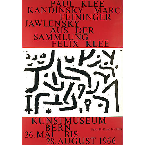 Large Paul Klee Museum Exhibit Poster