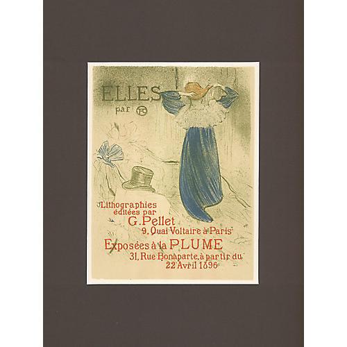 Toulouse Lautrec Litho Exhibit Poster