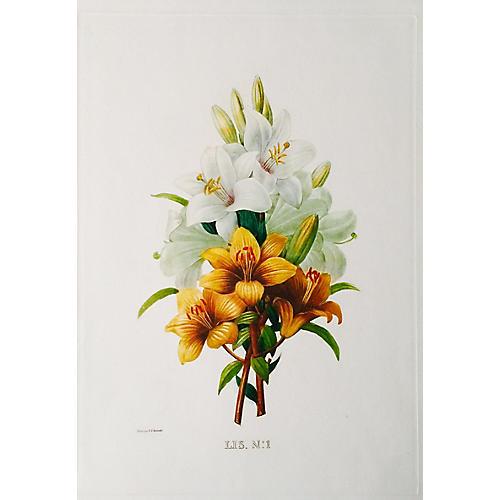 Bouquet LIS by Jean-Pierre Redouté