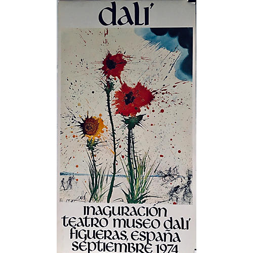 Original Dalí Spanish Exhibit Poster