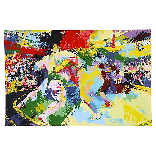 Leroy Neiman Sumo Wrestlers Lithograph