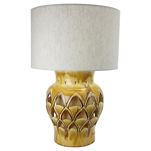 Gold Hollywood Regency Table Lamp