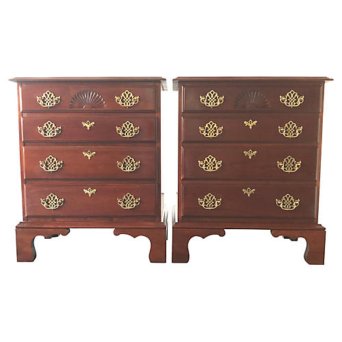 Colonial-Style 4-Drawer Nightstands
