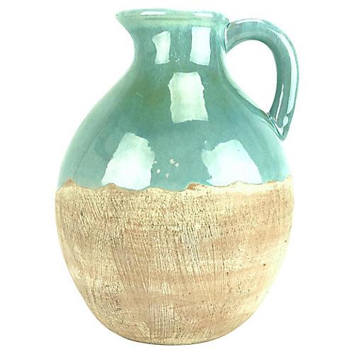 Aqua Ceramic Pitcher
