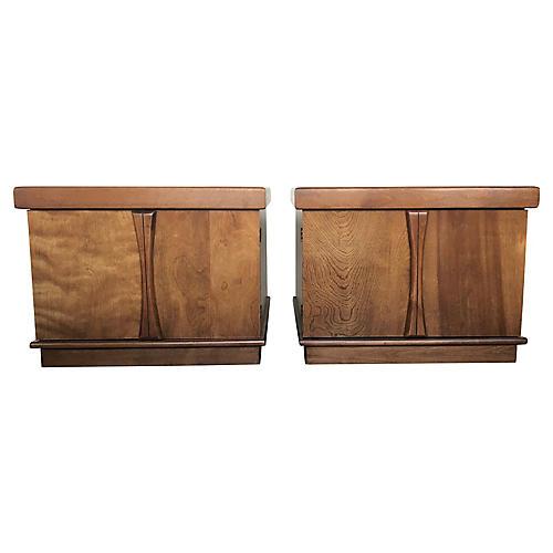 Mid-Century Modern Cabinet Nightstands
