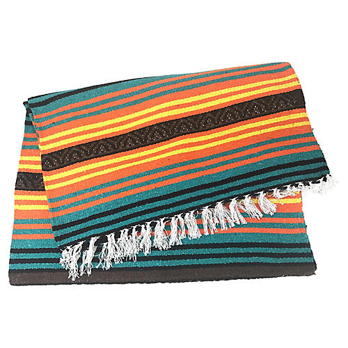 Mexican Fringed Throw Blanket