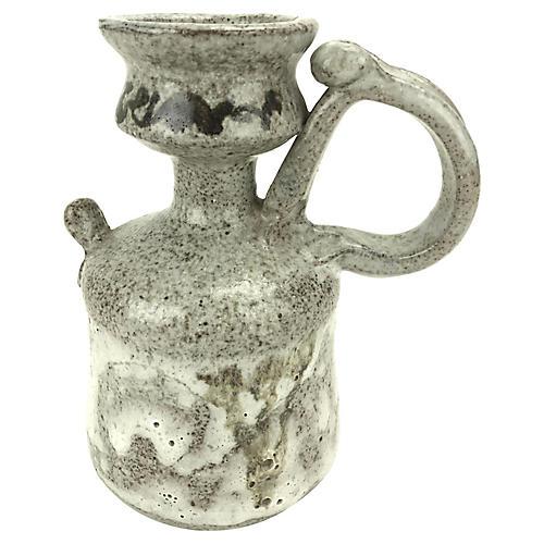 Hand-Thrown Terracotta Drip Glaze Vessel