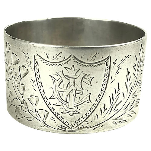 Sterling Silver Floral Napkin Ring