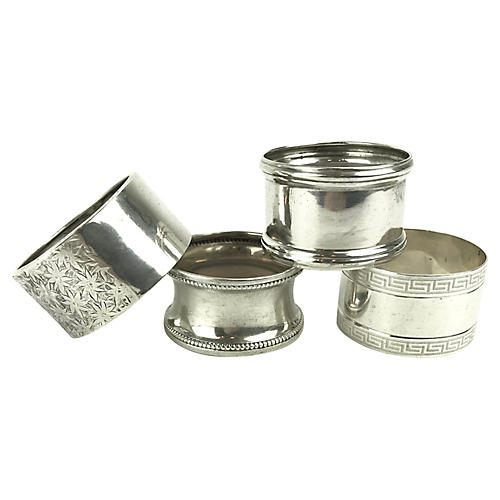 Sterling Silver Mismatched Napkin Rings