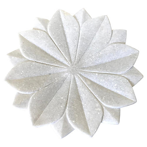 White Marble Lotus Flower Bowl