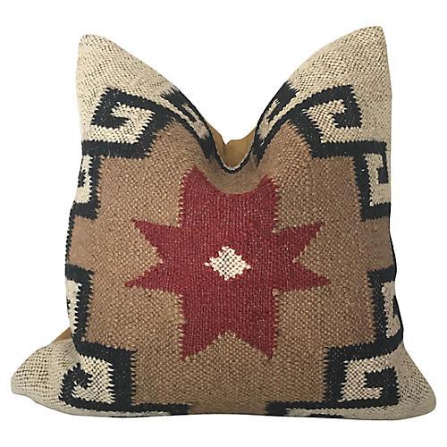 Turkish Kilim Woven Throw Pillow