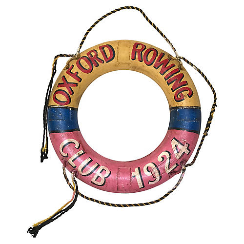 Oxford Rowing Life Preserver, 1924