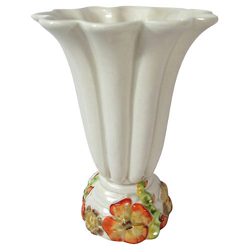 Clarice Cliff Pottery Floral Vase