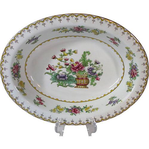 Spode Floral Oval Serving Bowl