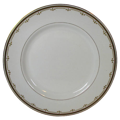 Limoges Gold Geometric Chop Platter