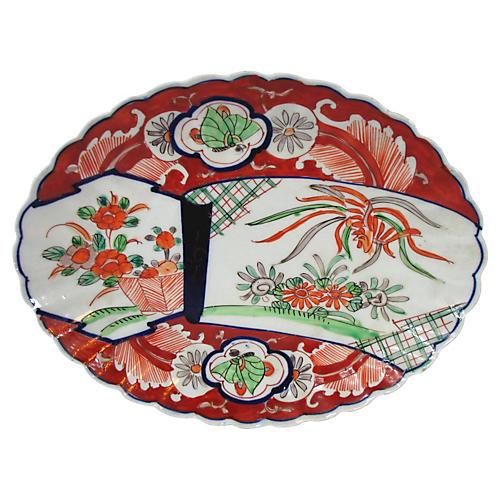 Antique Japanese Imari Oval Platter