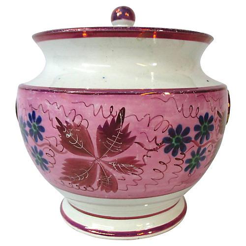 Antique English Tea Jar